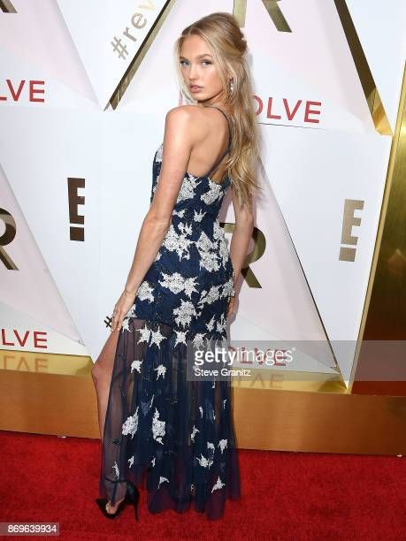 Romee Strijd arrives at the #REVOLVEawards at DREAM Hollywood on November 2 2017 in Hollywood California