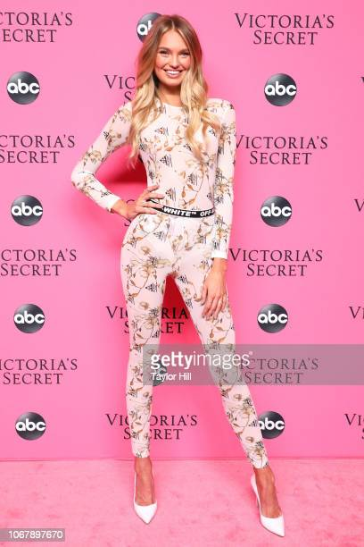 Romee Strijd attends the 2018 Victoria's Secret Fashion Show Viewing Party at Spring Studios on December 2 2018 in New York City