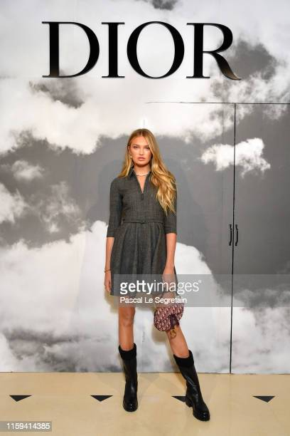 Romee Strijd attends the Christian Dior Haute Couture Fall/Winter 2019 2020 show as part of Paris Fashion Week on July 01 2019 in Paris France