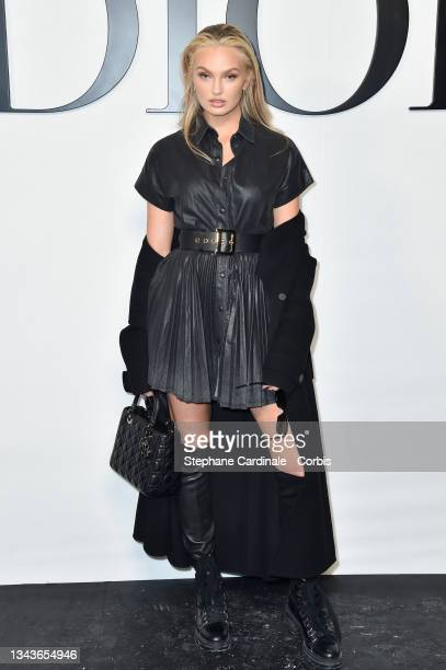 Romee Strijd attends the Dior Womenswear Spring/Summer 2022 show as part of Paris Fashion Week on September 28, 2021 in Paris, France.