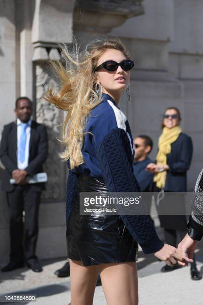 Romee Strijd attends the ELie Saab show as part of the Paris Fashion Week Womenswear Spring/Summer 2019 on September 29, 2018 in Paris, France.