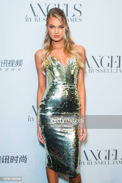 Romee Strijd attends the Russell James 'Angels' book launch & exhibit at Stephan Weiss Studio on September 6, 2018 in New York City.