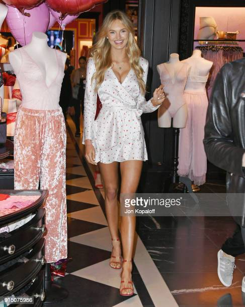 Romee Strijd attends Victoria's Secret Angels Josephine Skriver And Romee Strijd Share The New Dream Angels And Very Sexy Collections at Victoria's...