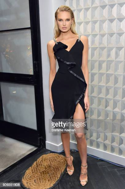Romee Strijd attends Women In Film PreOscar Cocktail Party presented by Max Mara and Lancome with additional support from Crustacean Beverly Hills...