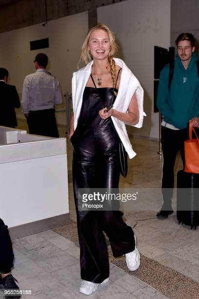 Romee Strijd is seen arriving at Nice Airport during the 71st annual Cannes Film Festival at Nice Airport on May 6 2018 in Nice France