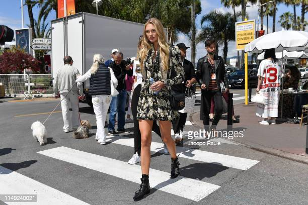 Romee Strijd is seen during the 72nd annual Cannes Film Festival at on May 15, 2019 in Cannes, France.