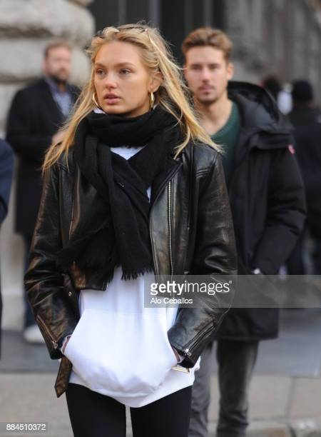 Romee Strijd is seen in Soho on December 2 2017 in New York City