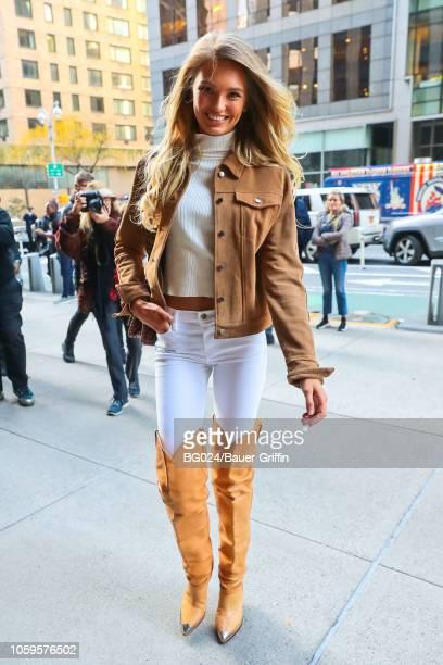 Romee Strijd is seen on November 08 2018 in New York City