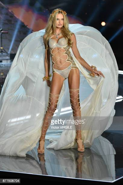 Romee Strijd walks the runway at the 2017 Victoria's Secret Fashion Show In Shanghai Show at MercedesBenz Arena on November 20 2017 in Shanghai China