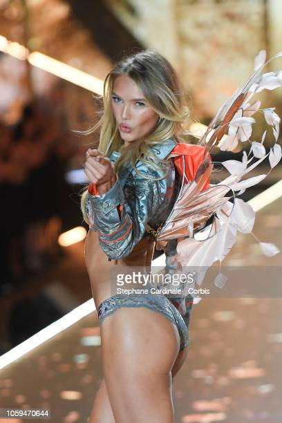 Romee Strijd walks the runway at the 2018 Victoria's Secret Fashion Show at Pier 94 on November 8 2018 in New York City