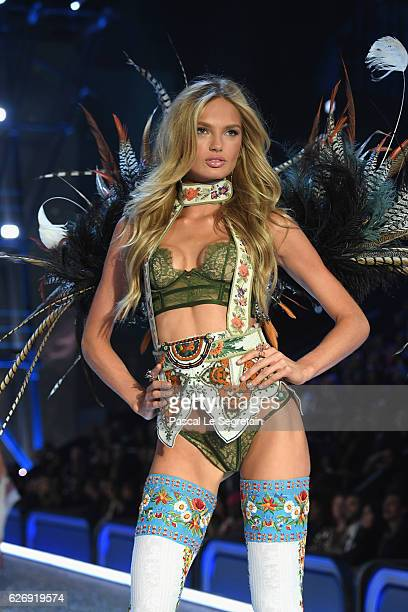 Romee Strijd walks the runway at the Victoria's Secret Fashion Show on November 30 2016 in Paris France
