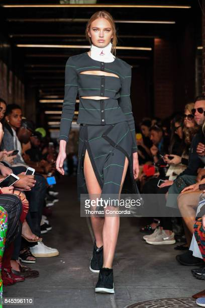 Romee Strijd walks the runway wearing Public School Spring 2018 during New York Fashion Week on September 10 2017 in New York City