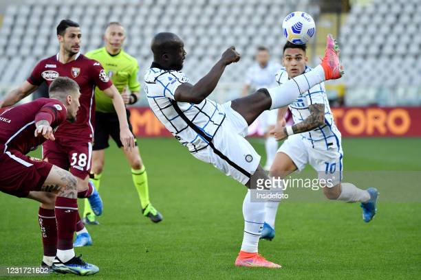 Romelu Lukaku and Lautaro Martinez of FC Internazionale in action during the Serie A football match between Torino FC and FC Internazionale. FC...