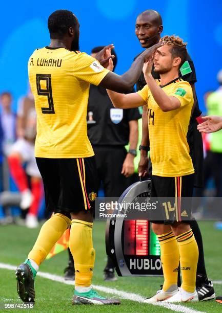 Romelu Lukaku forward of Belgium Dries Mertens forward of Belgium during the FIFA 2018 World Cup Russia Playoff for third place match between Belgium...