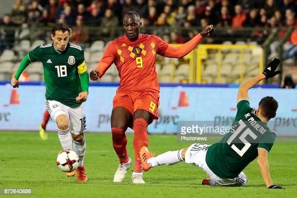 Romelu Lukaku forward of Belgium during a FIFA international friendly match between Belgium and Mexico at the King Baudouin Stadium on November 10,...