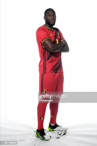 Romelu Lukaku forward of Belgium pictured during a photo session presenting the new jersey of the Belgian National Football Team prior to the Euro...