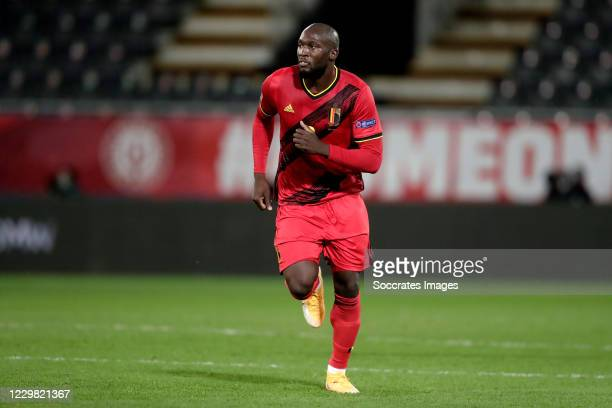 Romelu Lukaku of Belgium during the UEFA Nations league match between Belgium v Denmark at the King Baudouin Stadium on November 18, 2020 in Brussel...