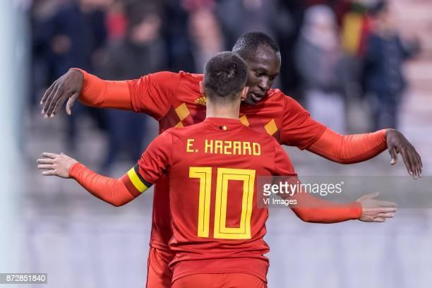 Romelu Lukaku of Belgium Eden Hazard of Belgium during the friendly match between Belgium and Mexico on November 10 2017 at the Koning Boudewijn...