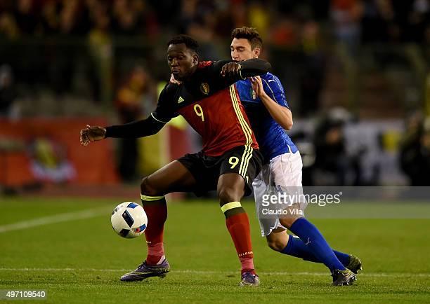 Romelu Lukaku of Belgium in action during the international friendly match between Belgium and Italy at King Baudouin Stadium on November 13 2015 in...
