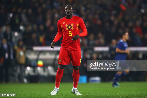 Romelu Lukaku of Belgium in action during the international friendly match between Belgium and Japan held at Jan Breydel Stadium on November 14 2017...