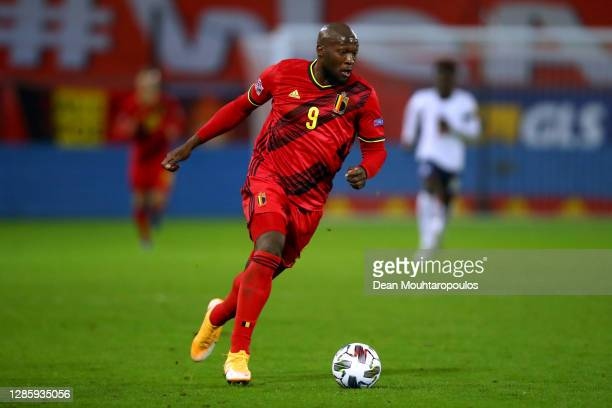 Romelu Lukaku of Belgium in action during the UEFA Nations League group stage match between Belgium and England at King Power at Den Dreef Stadion on...