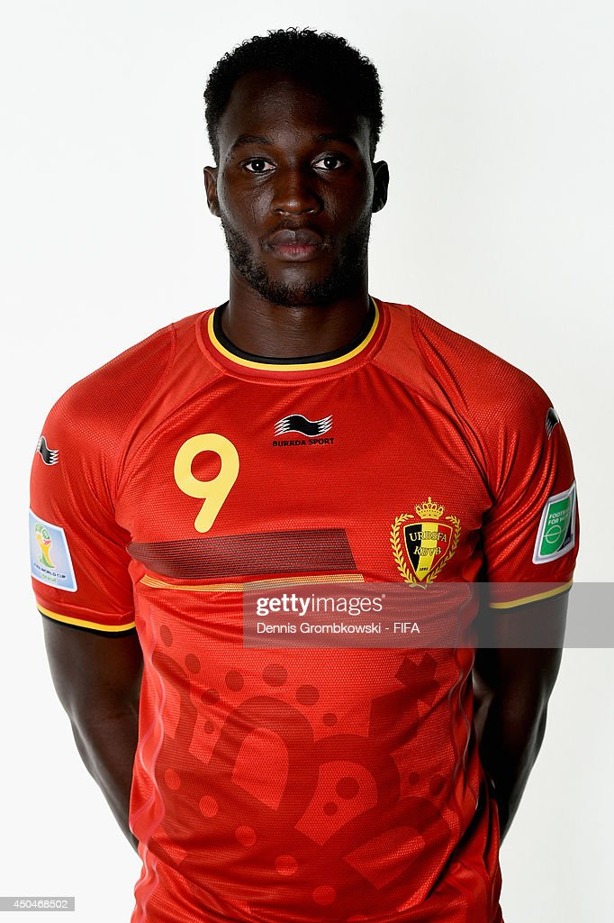 low priced fd033 bfc6f Romelu Lukaku of Belgium poses during the Official FIFA ...