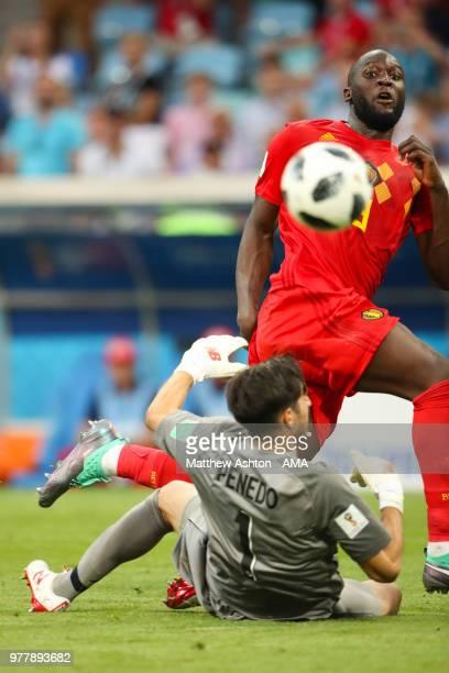 Romelu Lukaku of Belgium scores a goal to make it 30 during the 2018 FIFA World Cup Russia group G match between Belgium and Panama at Fisht Stadium...