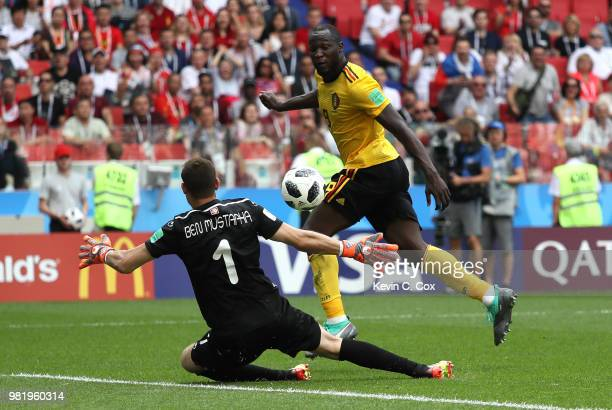 Dedryck Boyata of Belgium during the 2018 FIFA World Cup Russia group G match between Belgium and Tunisia at the Otkrytiye Arena on June 23 2018 in...