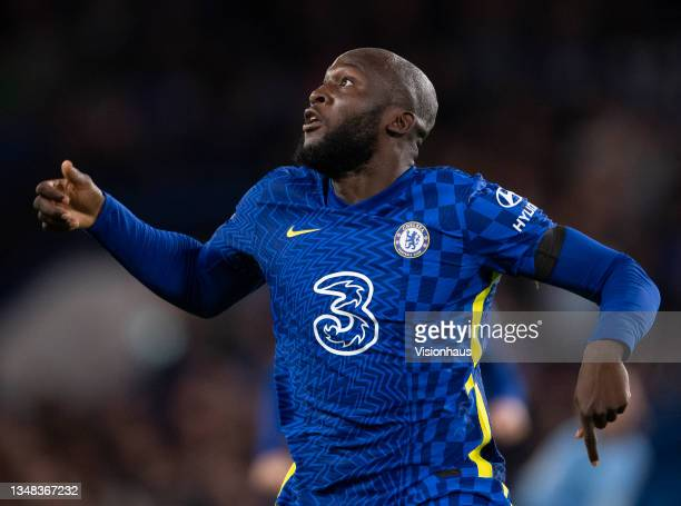 Romelu Lukaku of Chelsea during the UEFA Champions League group H match between Chelsea FC and Malmo FF at Stamford Bridge on October 20, 2021 in...