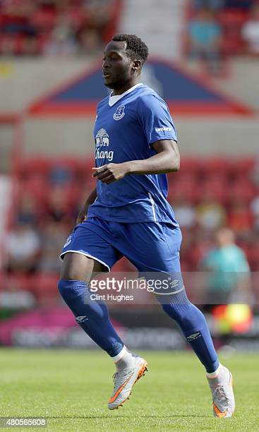 Romelu Lukaku of Everton in action during the Pre Season Friendly match between Swindon Town and Everton at the County Ground on July 11 2015 in...