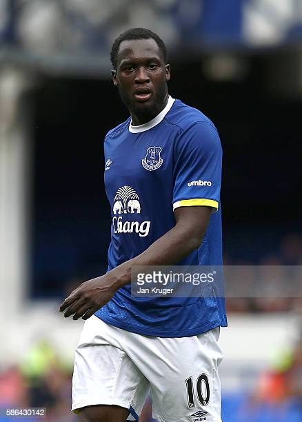 Romelu Lukaku of Everton in action during the preseason friendly match between Everton and Espanyol at Goodison Park on August 6 2016 in Liverpool...