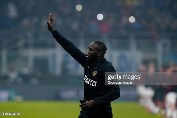 Romelu Lukaku of FC Internazionale Milano during the Italian Serie A match between Internazionale v AC Milan at the San Siro on February 9 2020 in...
