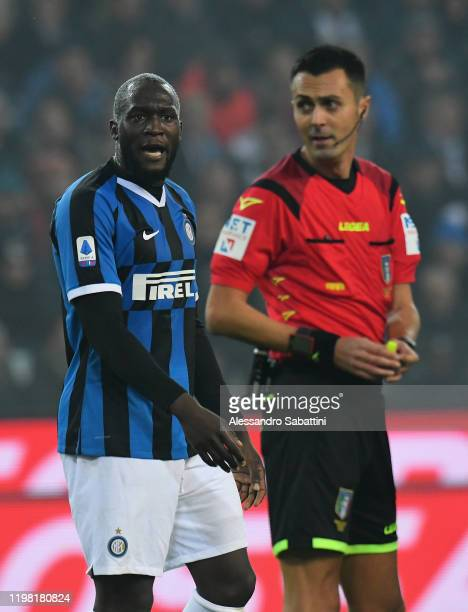 Romelu Lukaku of FC Internazionale reacts during the Serie A match between Udinese Calcio and FC Internazionale at Stadio Friuli on February 2, 2020...