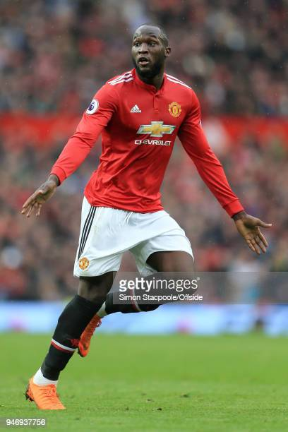 Romelu Lukaku of Man Utd in action during the Premier League match between Manchester United and West Bromwich Albion at Old Trafford on April 15...