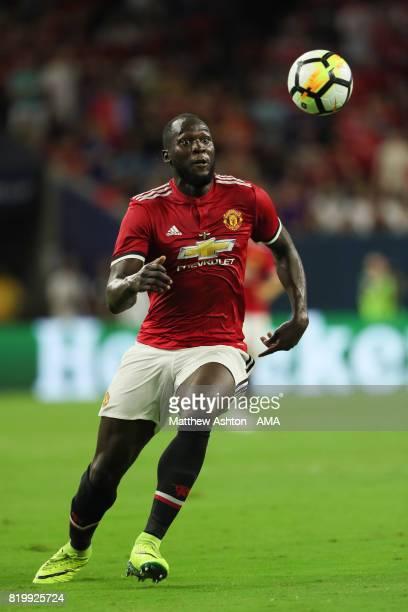 Romelu Lukaku of Manchester United during the International Champions Cup 2017 match between Manchester United and Manchester City at NRG Stadium on...