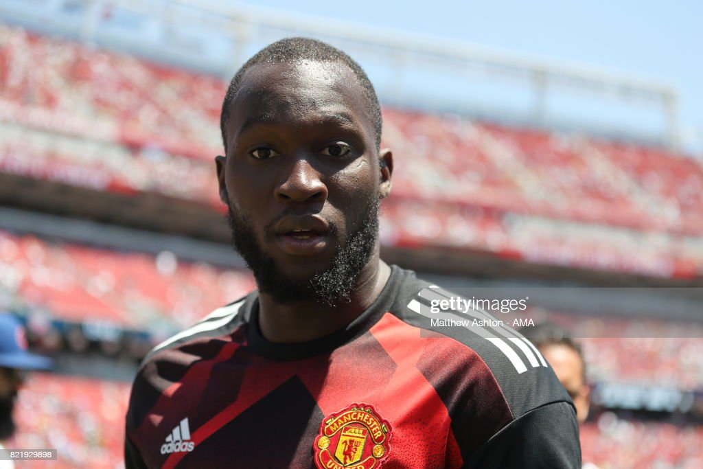 Romelu Lukaku of Manchester United during the International Champions Cup 2017 match between Real Madrid v Manchester United at Levi'a Stadium on July 23, 2017 in Santa Clara, California.