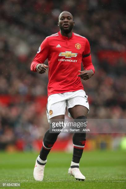 Romelu Lukaku of Manchester United during the Premier League match between Manchester United and Huddersfield Town at Old Trafford on February 3 2018...