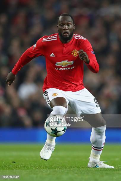 Romelu Lukaku of Manchester United during the UEFA Champions League group A match between Manchester United and SL Benfica at Old Trafford on October...
