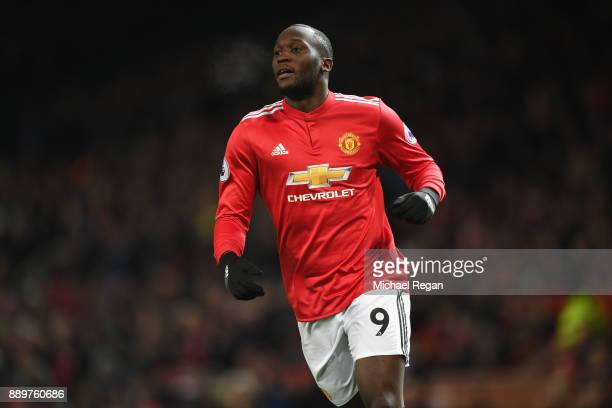 Romelu Lukaku of Manchester United in action during the Premier League match between Manchester United and Manchester City at Old Trafford on...