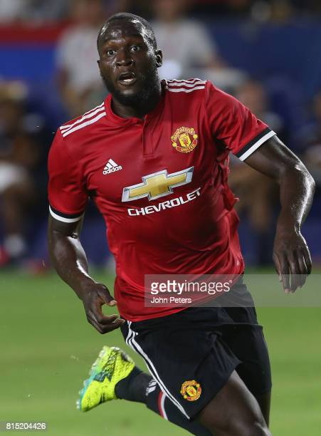 Romelu Lukaku of Manchester United in action during the preseason friendly match between LA Galaxy and Manchester United at StubHub Center on July 15...