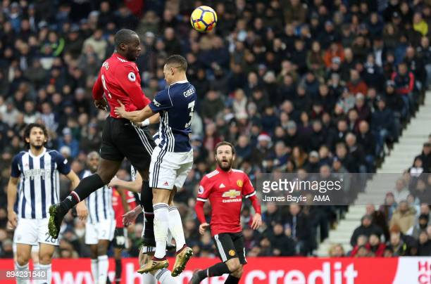 Romelu Lukaku of Manchester United scores a goal to make it 01 during the Premier League match between West Bromwich Albion and Manchester United at...