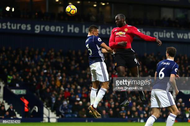 Romelu Lukaku of Manchester United scores the opening goal during the Premier League match between West Bromwich Albion and Manchester United at The...
