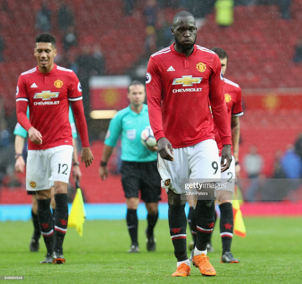 Romelu Lukaku of Manchester United walks off after the Premier League match between Manchester United and West Bromwich Albion at Old Trafford on April 15, 2018 in Manchester, England.