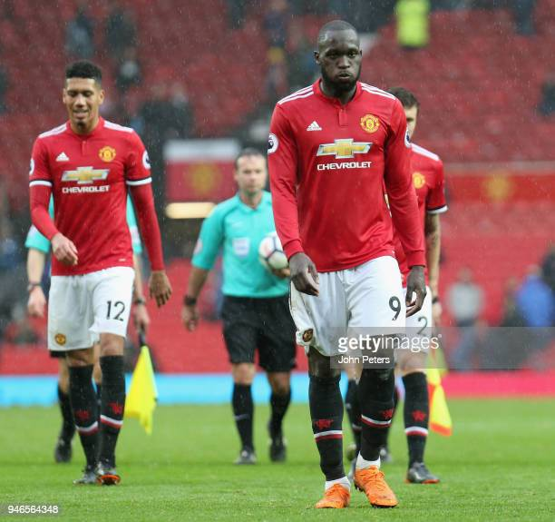 Romelu Lukaku of Manchester United walks off after the Premier League match between Manchester United and West Bromwich Albion at Old Trafford on...