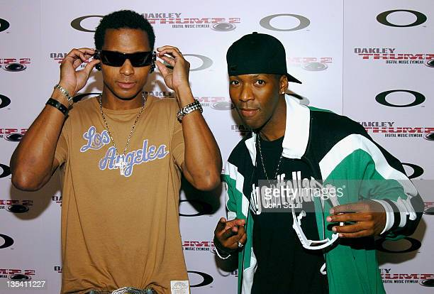 Romeo and DJai of the Goodfellas during Oakley Thump 2 Launch Party - October 12, 2005 at Montmartre Lounge in Hollywood, California, United States.