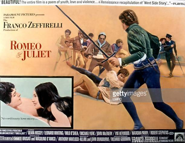 Romeo And Juliet poster Leonard Whiting Olivia Hussey 1968