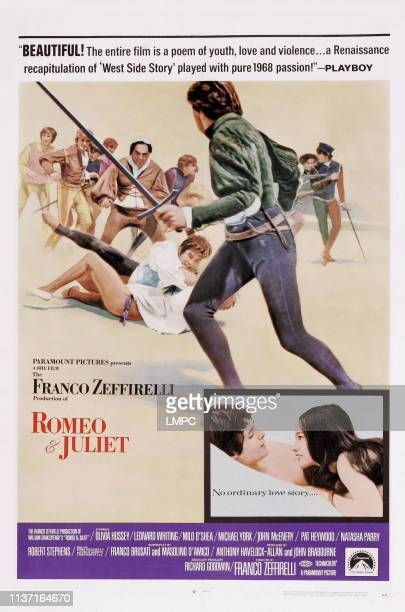 Romeo And Juliet poster US poster art bottom right from left Leonard Whiting Olivia Hussey 1968