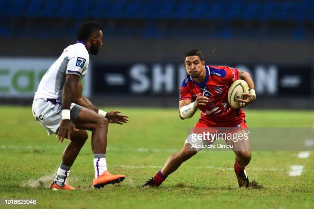 Romeo Ballu of Beziers during the French Pro D2 match between Beziers and Soyaux Angouleme on August 17 2018 in Beziers France
