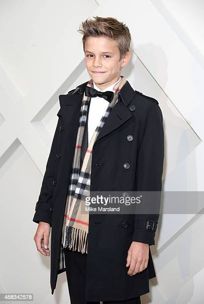 Romeo Beckham attends as Burberry launch their festive campaign starring Romeo Beckham on November 3, 2014 in London, England.