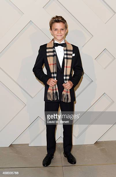 Romeo Beckham attends the launch of the Burberry festive campaign at 121 Regent Street on November 3, 2014 in London, England.